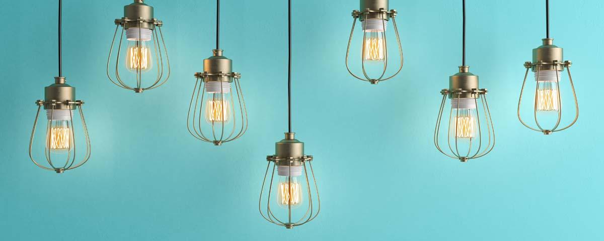 Sept lampes
